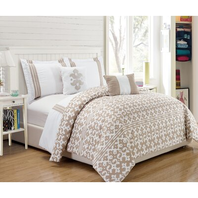 Barrington 5 Piece Comforter Set Size: King