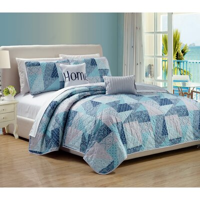 Villa 5 Piece Quilt Set Size: Queen