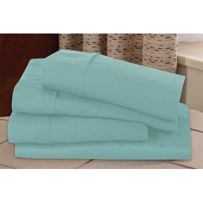Microfiber Sheet Set Size: Twin, Color: Aqua