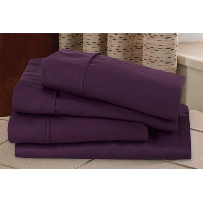 Microfiber Sheet Set Size: Twin, Color: Eggplant