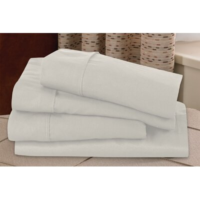 Microfiber Sheet Set Size: Twin, Color: Ivory