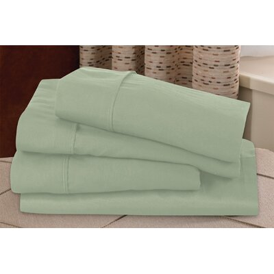 Microfiber Sheet Set Size: Full, Color: Sage