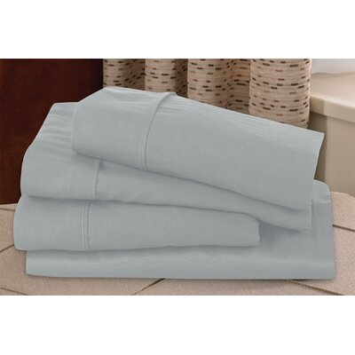 Microfiber Sheet Set Size: California King, Color: Silver