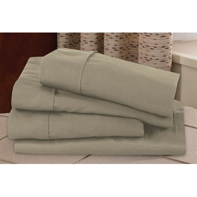Microfiber Sheet Set Size: Queen, Color: Taupe