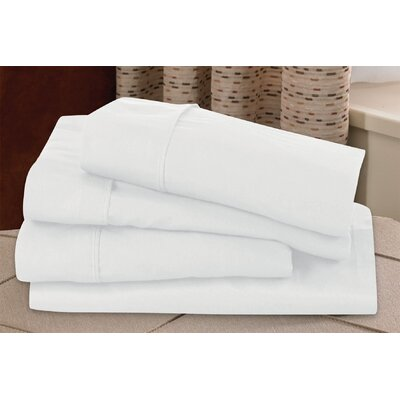 Microfiber Sheet Set Size: Full, Color: White