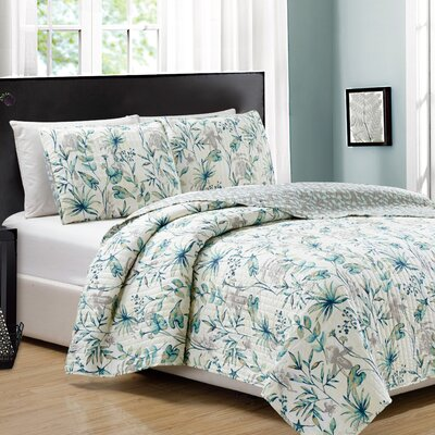 Alpine 3 Piece Reversible Quilt Set Size: Queen