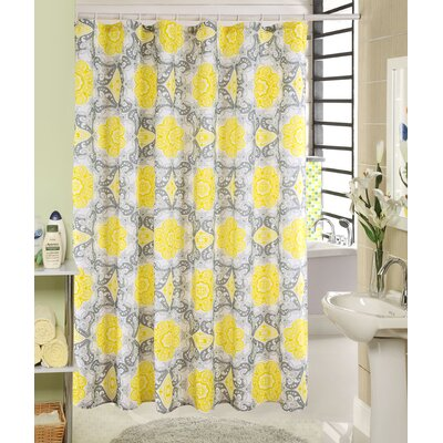 Aaron Printed Canvas Shower Curtain