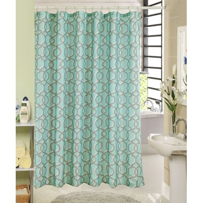 Abbate Printed Canvas Shower Curtain