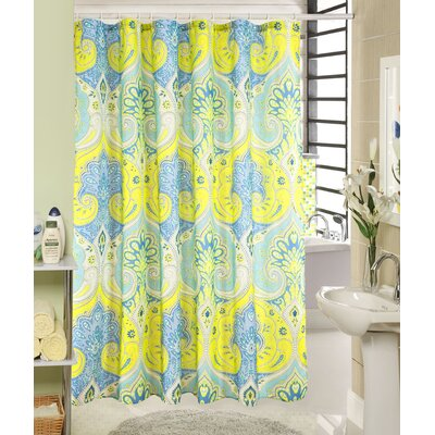 Louis Wave Printed Canvas Shower Curtain