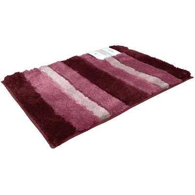 Breton Ombre 2 Piece Microfiber Bath Rug Set Color: Burgundy
