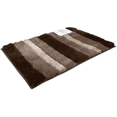 Breton Ombre 2 Piece Microfiber Bath Rug Set Color: Chocolate