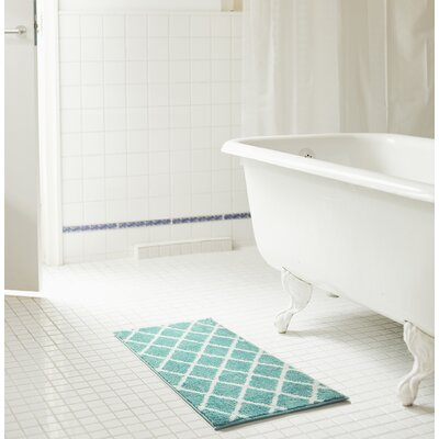 Jeanie Jacquard Bath Rug Set Color: Aqua