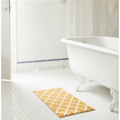 Jeanie Jacquard Bath Rug Set Color: Gold