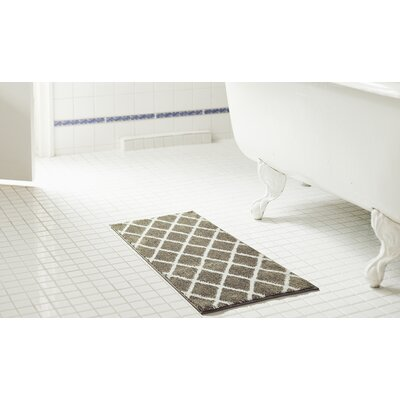 Jeanie 2 Piece Jacquard Microfiber Bath Rug Set Color: Gray