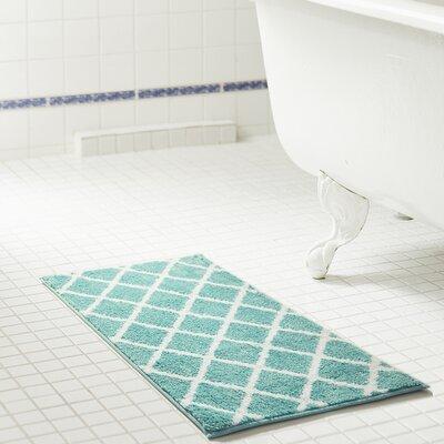Jeanie Jacquard Microfiber Bath Rug Size: 20 W x 32 L, Color: Aqua