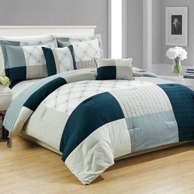 Cala Embroidered 5 Piece Comforter Set Size: King