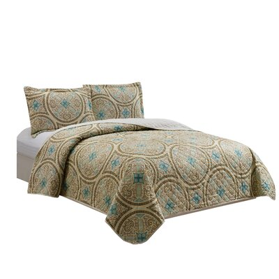 Arvilla 3 Piece Reversible Quilt Set Size: King
