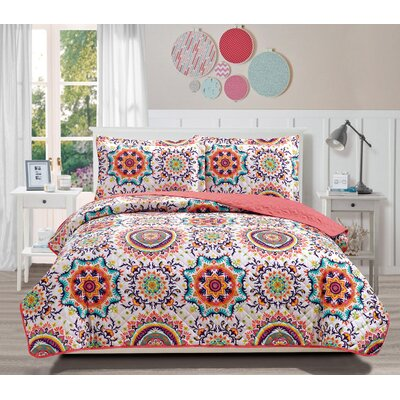 Babette 3 Piece Reversible Quilt Set Size: King