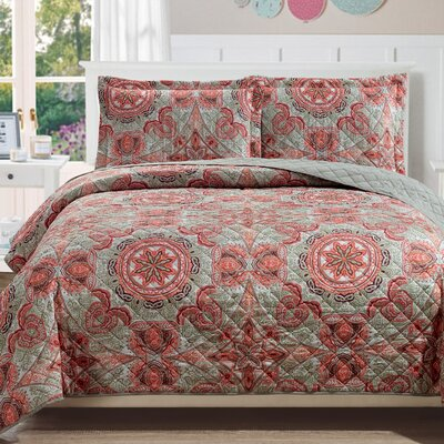 Aspen 3 Piece Reversible Quilt Set Size: King