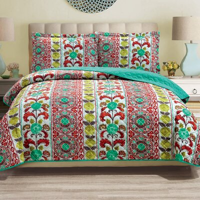 Ned 3 Piece Reversible Quilt Set Size: King