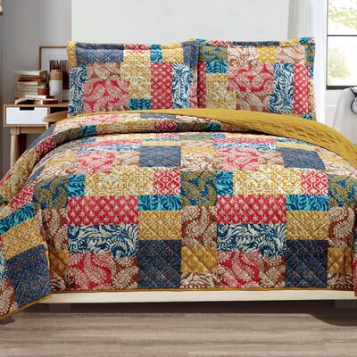 Haddan 3-Piece Reversible Quilt Set Size: King