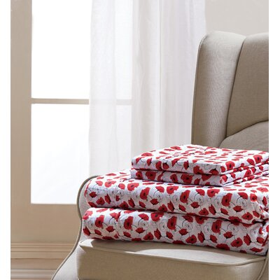 Coatsburg Poppy Sheet Set Size: Queen
