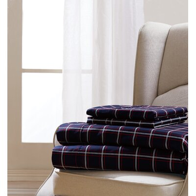 Hebert Plaid Sheet Set Size: Queen
