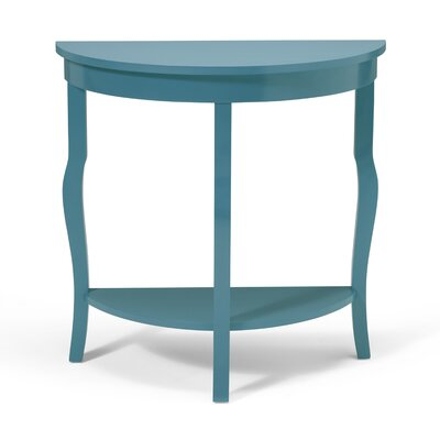 Lillian Console Table Color: Teal