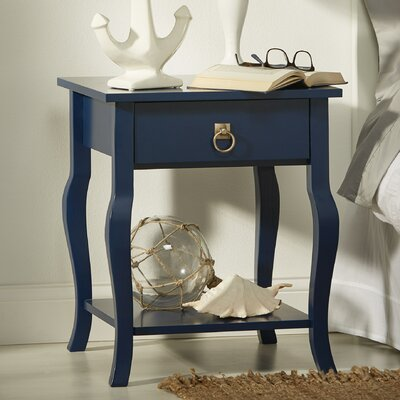 Lillian End Table Finish: Satin Navy Blue