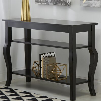 Lillian Console Table Finish: Satin Black
