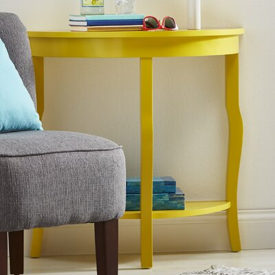 Lillian Console Table Color: Yellow