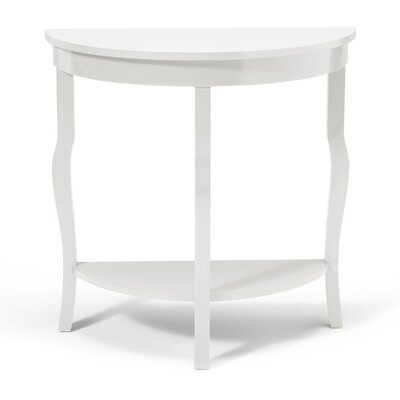 Lillian Console Table Color: True White