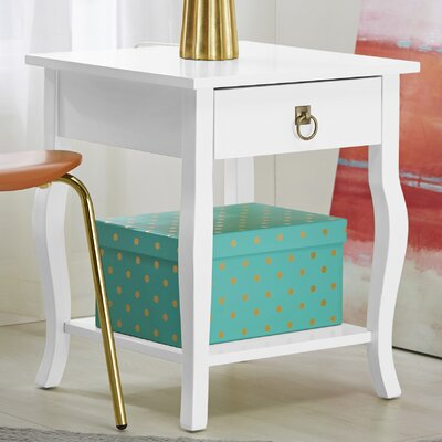Lillian End Table Finish: Satin True White