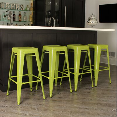 Tallis 30 Bar Stool Finish: Green