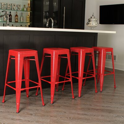 Tallis 30 Bar Stool Finish: Red