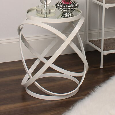 Marea End Table Color: Ivory
