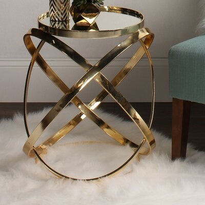 Marea End Table Finish: Gold