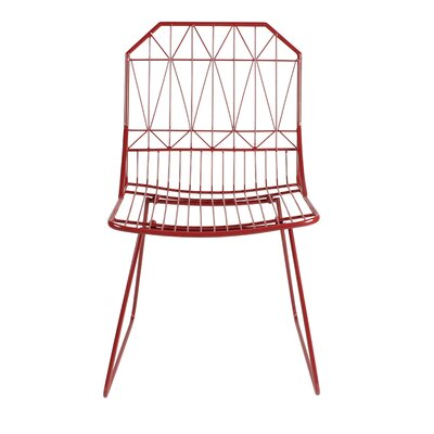 Thrapston Geometric Accent Chair Finish: Red