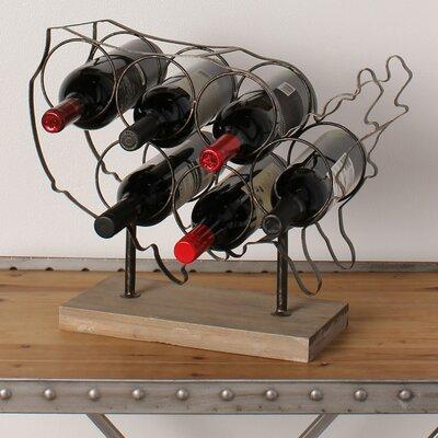 America 6 Bottle Tabletop Wine Bottle Rack
