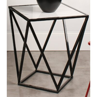 Maia End Table Color: Black
