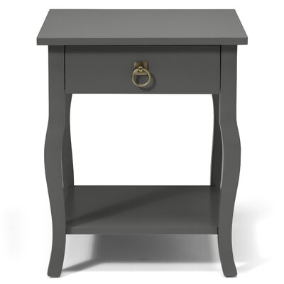 Danby End Table With Storage Color: Satin Gray