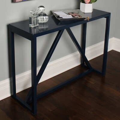 Kaya Wood Console Table Color: Navy Blue