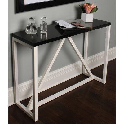Kaya Wood Console Table Color: Black/White