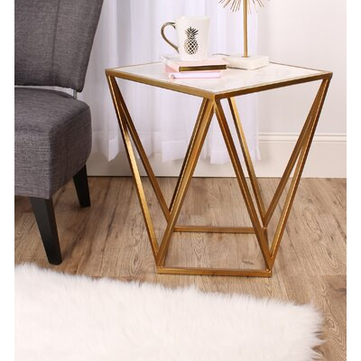 Maia End Table Finish: Gold