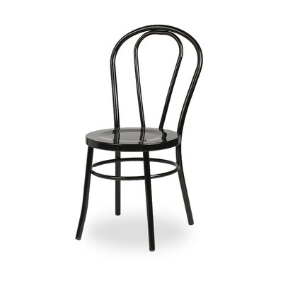 Modern Metal Side Chair Finish: Black