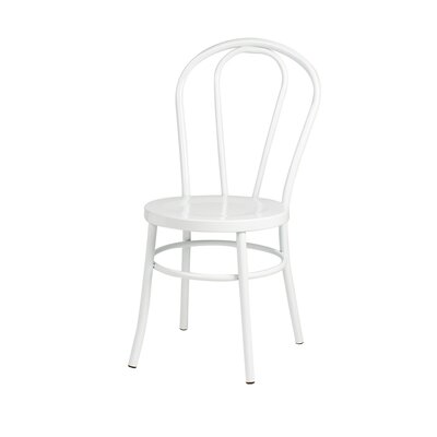 Modern Metal Side Chair Finish: White