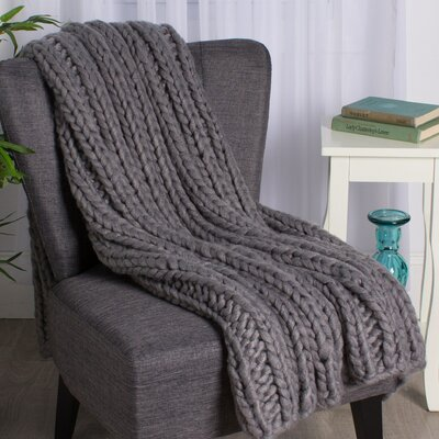 Chunky Knit Throw Color: Soft Gray