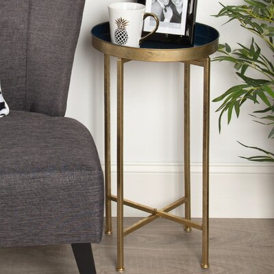 Blessen End Table Color: Navy Blue