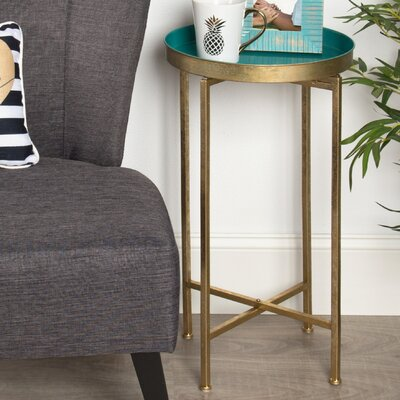 Blessen End Table Color: Teal