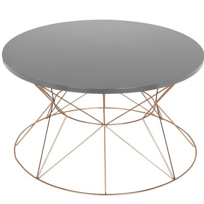 Galien Round Metal Coffee Table Top Color: Gray